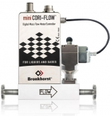 mini CORI-FLOW and shut-off valve assembly for batching